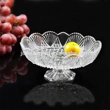 JA-GS-015 Newest design glass fruit dish wholesale