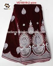 velvet lace suits designs velvet dresses for women of VE10019 wine