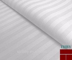 100% cotton bleached satin stripe bedding fabrics cotton hotel bedding fabrics