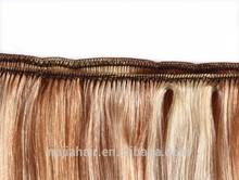 Premium now platinum blonde human hair rj,invisible tape hair extensions triple wefting 200 grams