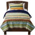 main indien gros patchwork de coton jeté de lit matelassé