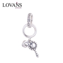 New 2014 Antique With Hearts Dangle Charms 925 Sterling Silver Fit European Brand Bracelets DIY Wholesale YZ248