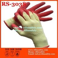 RILIN SAFETY high quality sheepskin leather work gloves ,pig grain leather gloves CE EN388 EN420