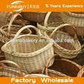 Fábrica atacado 100% pura natureza como decorar cesta de frutas para casamento- guardar alimentos naturais de vime cesta de pão