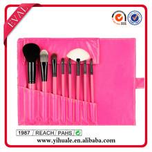 High quality make up brush bag red