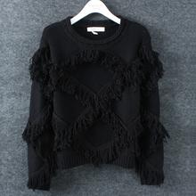 MS61466W online shopping crochet tassel autumn winter latest women sweater