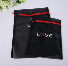 durable material laundry mesh bag with zipper closure