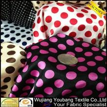 Fashionable printed fabric satin polka dot