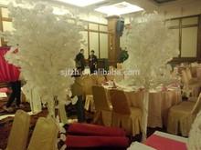 wedding high table decor decoration, white ginkgo tree
