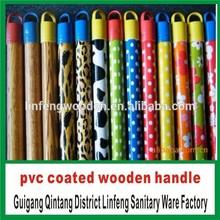 2014 PVC Coated Wooden Broom Handle Broom Stick Mop Handle Manufacturer