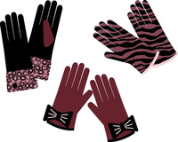 promotion baby brown leather gloves mini factory