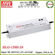 Meanwell led driver smps 24v HLG-150H-24