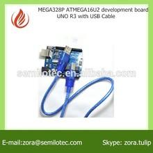 MEGA328P ATMEGA16U2 development board UNO R3 with USB cable development board