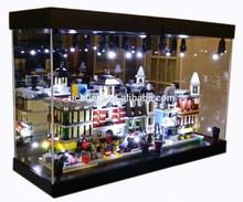 MB Display Box Acrylic Case for Lego models LED Light House