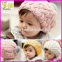 Hot Selling Kids Girls Baby Handmade Hat Crochet Knitting Beret Hats Caps Cute Winter Beanie