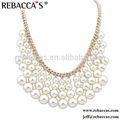 Collier de perles en plastique, collier de perles avec desimages en laiton mousquetons pour enfant
