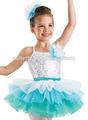 2014 nuevo! Mb3051 blanco con lentejuelas ballet del niño vestido de la danza