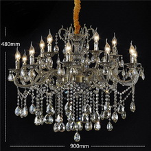 Discount CE Chandelier Glass Crystal Lampshade