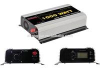 1000W LCD display Micro Solar Grid Tie Inverter MPPT function DC 45v-90V 22V-60V AC 100V 110V 120V 220V 230V 240V SUN 1000G