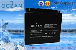 OCENA ISO9001 CE FCC MSDE 12v 17ah ups batteries rechargeable batteries 17ah battery recharge pack 12 volt