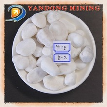 Natural Colored Stone-------White Pebble Stone different Size can be order