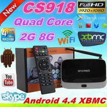 Hotselling Android TV BOX CS918 full hd 1080p porn video watch free tv box 1.6GHz Mali 400 GPU RAM 2GB