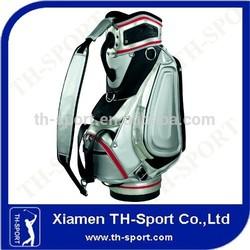 OEM silver color high quality golf bag for sale staff bag