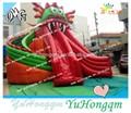 Dragón gigante de diapositivas inflables del agua para piscinas, grado comercial tobogán del parque