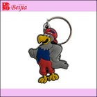 cute pigeon 3d rubber keychain with metal ring, OEM welcome