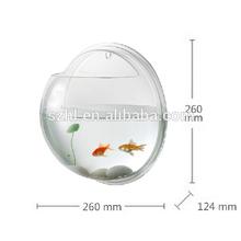 Hemisphere acrylic wall mount fish bowl wholesale