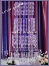 Gorgeous layered crystal cake stand decoration wedding cake model