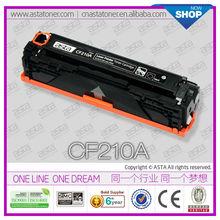 Compatible Toner Cartridge CF210A for hp laserjet pro 200 toner reset chip