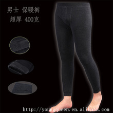 thick warm velvet pants male bamboo fiber seamless pants integration warm and comfortable leggings