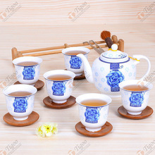 TG-405W230-W-17 pottery tea set with high quality indian wedding door gift