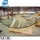 Top Quality 3-19mm clear,bronze, blue, green, grey ,hot bending glass,hot bent glass, Curved glass door