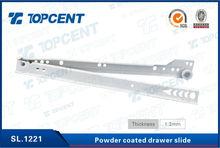 Good quality powder coated roller slide bottom mounting drawer slide