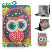in stock newest cute smart case cover for ipad air 2(owl patterns)