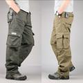 Mens ucuz kargo pantolon, rahat kamuflaj pantolon, çoklu cep askeri şalvar
