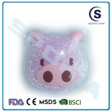 lovely pig shaped gel beads hot cold packs
