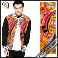 Factory high end digital printing types of jacket fabric material