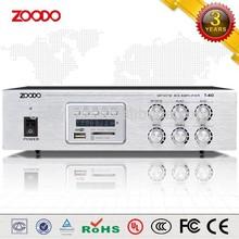 China Amplifier Manufacturer T-40 Multiple Audio Sources Power Digital Amplifier