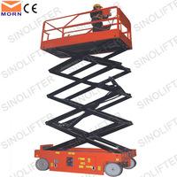 8m electric automatic battery scissor lift ladder
