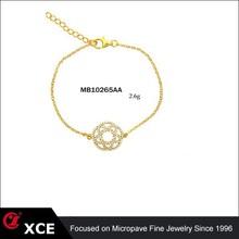 925 pulseira de prata esterlina chapeamento de ouro na venda