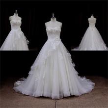 Romantic Modest mermaid wedding dress silk organza