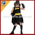 Custome feito batgirl halloween traje, sexy girl super herói de fantasia