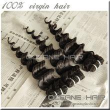 Double weft new style 100 grams virgin malaysian deep curly hair
