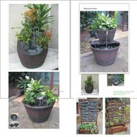 New Solar Water Pump System Fountain Garden Plants