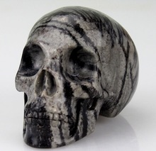 American Europe popular home decor 3 inch natural stone carving skull