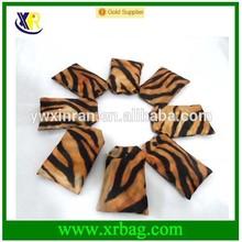210D polyester tiger pattern folding shopping bag