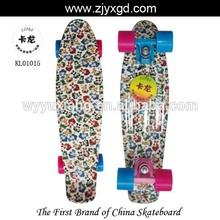 Graphic Printed Custom 22inch penny vinyl cruiser skateboard